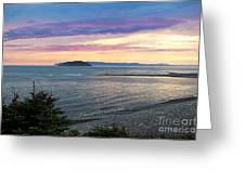 Hazy Evening Sunset Greeting Card