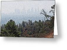 Hazy L.a. Greeting Card