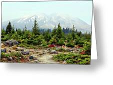 Hazy Mt. St. Helens Greeting Card