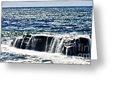 hd 347 The Rock hdr Greeting Card