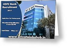 Hdfc Bank Recruitment Greeting Card