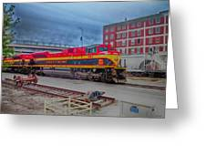 Hdr Fun With Trains Greeting Card