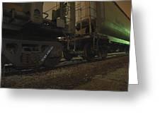 Hdr Rail Cars Greeting Card