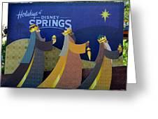 Three Wise Men Disney Springs Greeting Card