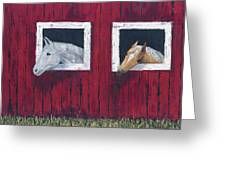 He And She Greeting Card by Kathryn Riley Parker