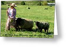 He Calls His Own Sheep By Name Greeting Card