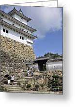He Gate Himeji Castle Japanese Castles Doorway Gateway Japan Greeting Card