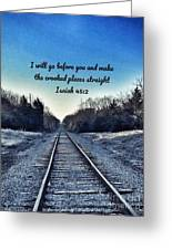 He Goes Before Us Greeting Card