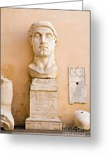 Head From The Statue Of Constantine, Rome, Italy Greeting Card