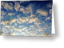Head In The Clouds- Art By Linda Woods Greeting Card