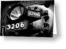 Headlamp Of Steam Locomotive No. 3206 Greeting Card