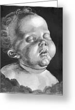 Head Of A Child Greeting Card