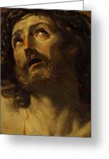 Head Of Christ Crowned With Thorns 1620 Greeting Card