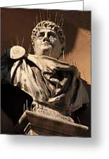 Head Of Nero In Venice Greeting Card