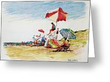 Head  Of The Meadow Beach, Afternoon Greeting Card