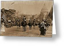 Head Of Washington D.c. Suffrage Parade Greeting Card