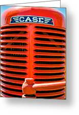 Head On To An Old Case Tractor Grill In Classic Orange Paint Greeting Card