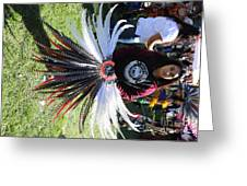 Head Piece Dancer Day Of The Dead  Greeting Card