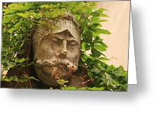 Head With Vines Greeting Card