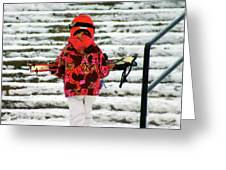 Heading For The Slopes Greeting Card