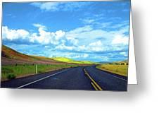 Heading Toward The Palouse Greeting Card