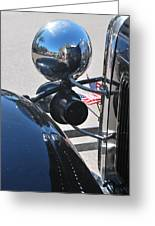 Headlamp And Flags Greeting Card