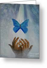 Healing Hands Greeting Card by Terri Maddin-Miller