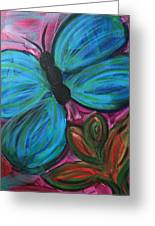 Healing Rain Butterfly Greeting Card