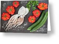 Healthy Diet Food Greeting Card