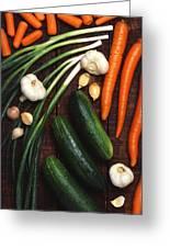 Healthy Vegetables Greeting Card
