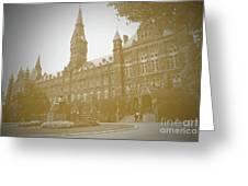 Healy Hall Sepia Greeting Card