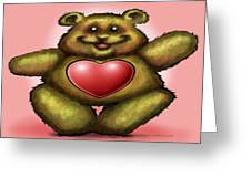 Heart Bear Greeting Card