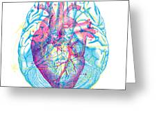 Heart Brain Greeting Card