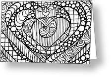 Heart Crown Tangle Greeting Card