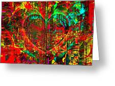 Heart In Flame Greeting Card