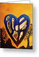 Heart In Glory Greeting Card