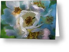Heart Of A Dewy Flower Greeting Card