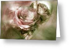 Heart Of A Rose - Antique Pink Greeting Card