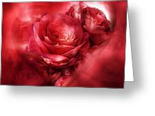 Heart Of A Rose - Red Greeting Card