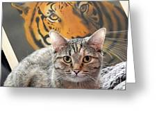 Heart Of A Tiger Greeting Card