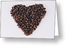 Heart Of Coffee Beans Greeting Card