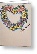 Heart Of Flowers Greeting Card