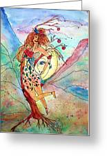 Heart Of Her World Greeting Card