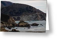 Heart Of The Bixby Bridge Greeting Card