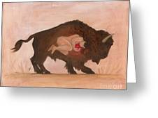 Heart Of The Buffalo Greeting Card