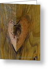 Heart Of The Wood Greeting Card