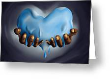 Heart Of Water Greeting Card by Pierre Louis