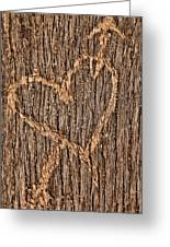 Heart On A Bench Greeting Card