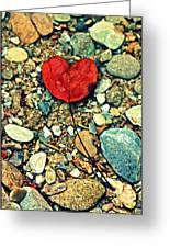Heart On The Rocks Greeting Card