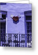 Heart On Wall Greeting Card